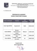 Program de audiențe